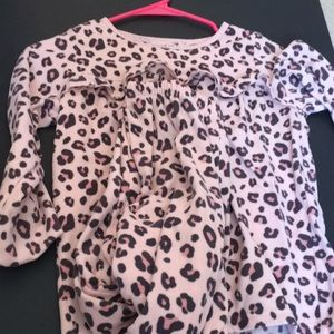 Other - Cheetah Print Pajama Top and Bottom